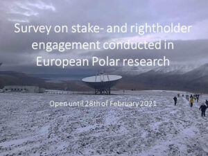 EU-PolarNet 2 survey on stake- and rightholder engagement conducted in European Polar research projects now online!